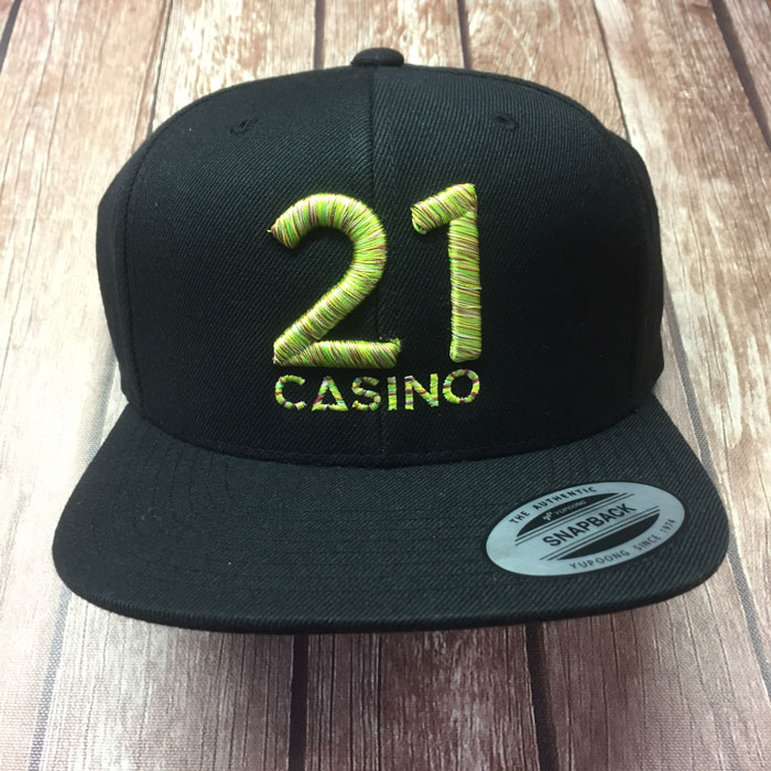Snapback Cap for 21 Casino